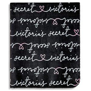 Victoria's Secret Logo Fleece Throw Blanket NWT
